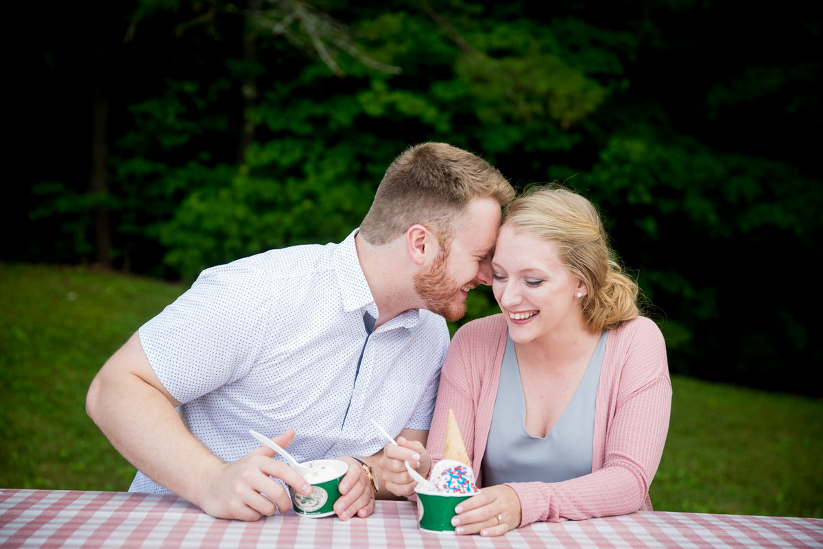 Ice Cream Engagement Session at Kimball Farm in Jaffrey, NH
