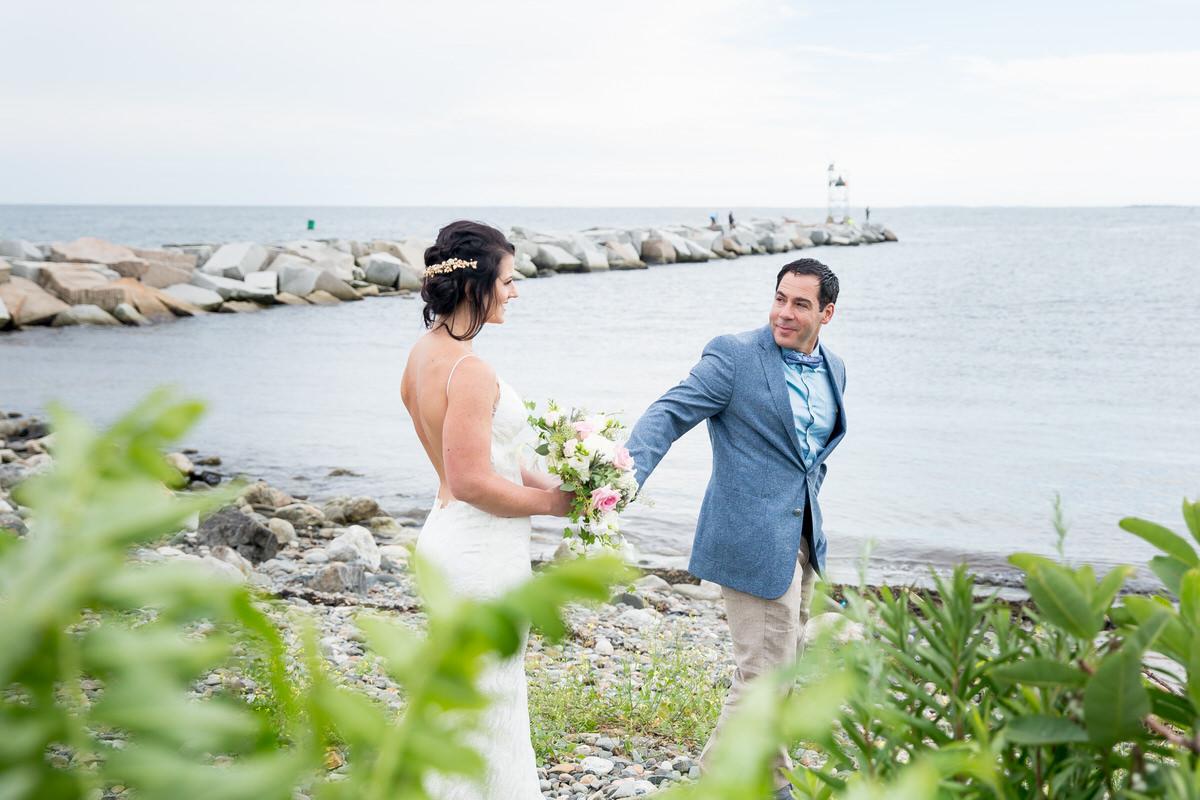 Relaxed Beachside Wedding at Rye Harbor Beach, NH